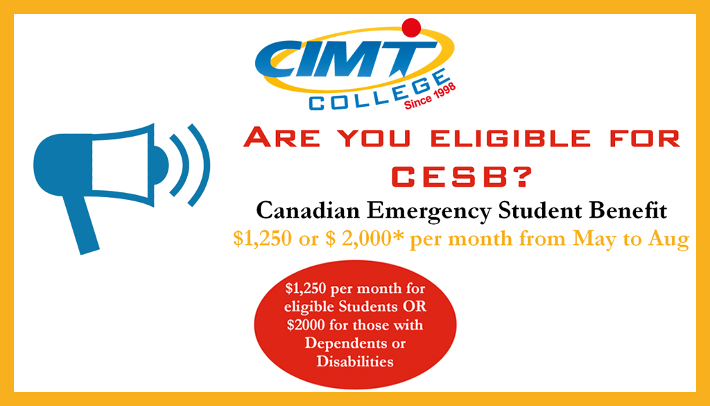 Are you eligible for CESB? Canadian Emergency Student Benefit!