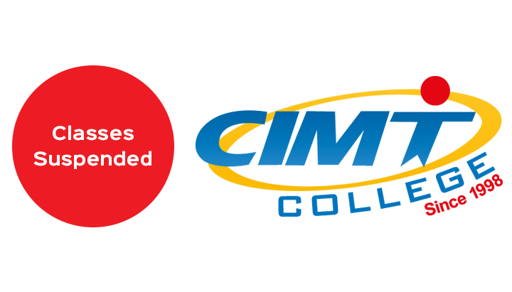 Coronavirus Update - Classes suspended for one week at CIMT College
